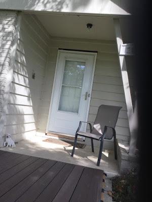 Deck extended to front door