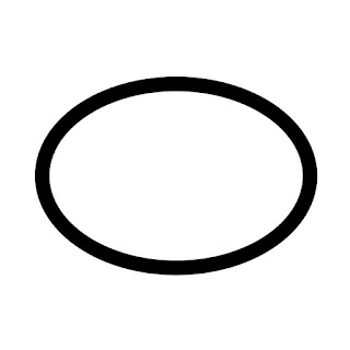 vector clip art of an ellipse