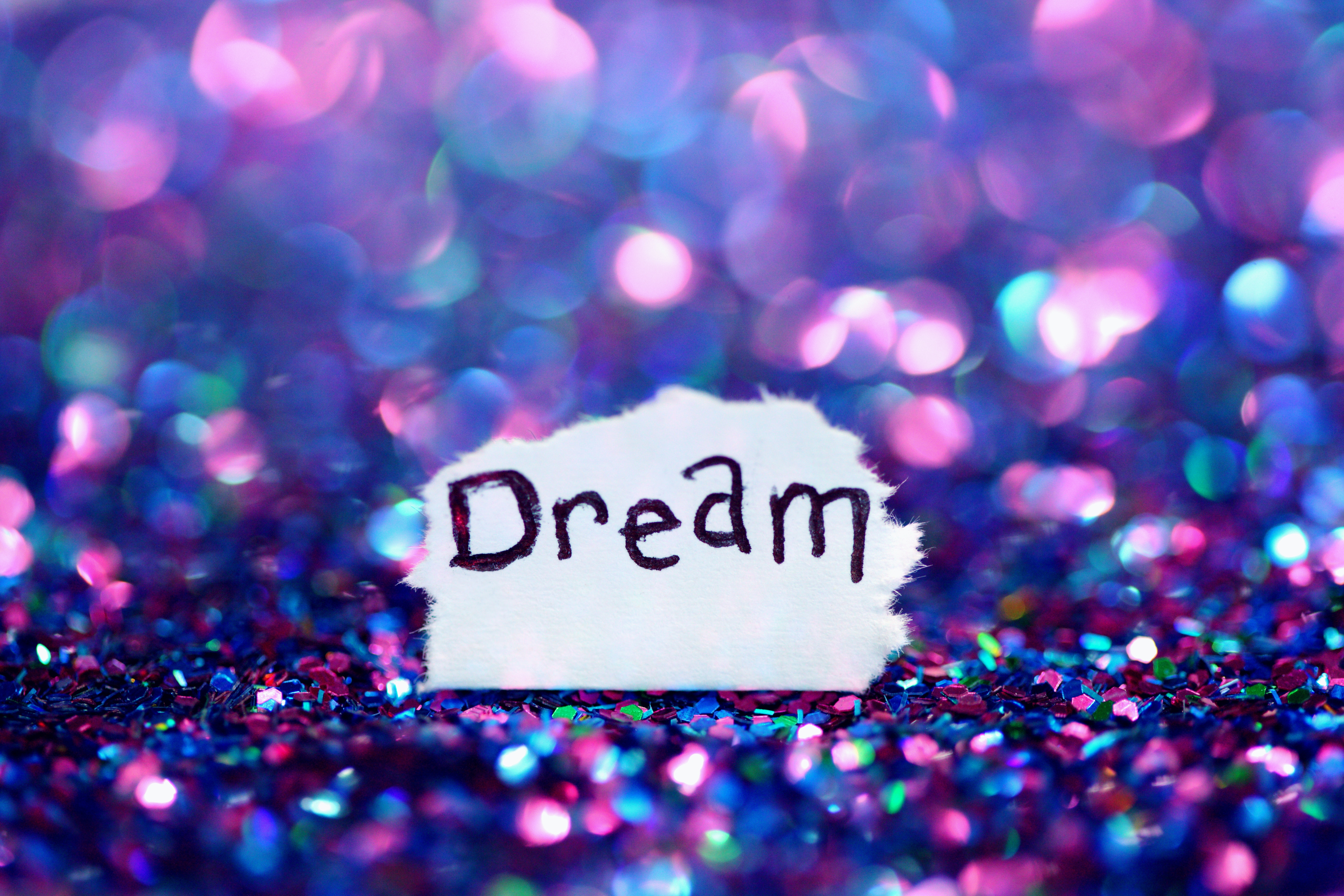 Dream, Glitter, Bokeh, Purple, Pink, 5K, Photography