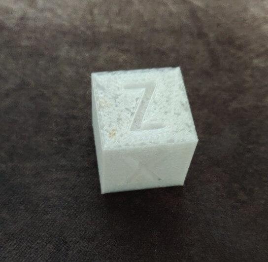 Spongy 3D print sample