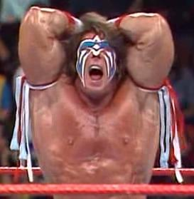 WWF / WWE ROYAL RUMBLE 1989 Ultimate Warrior pose