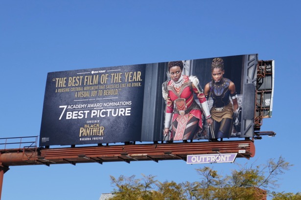 Black Panther Oscar nominee billboard