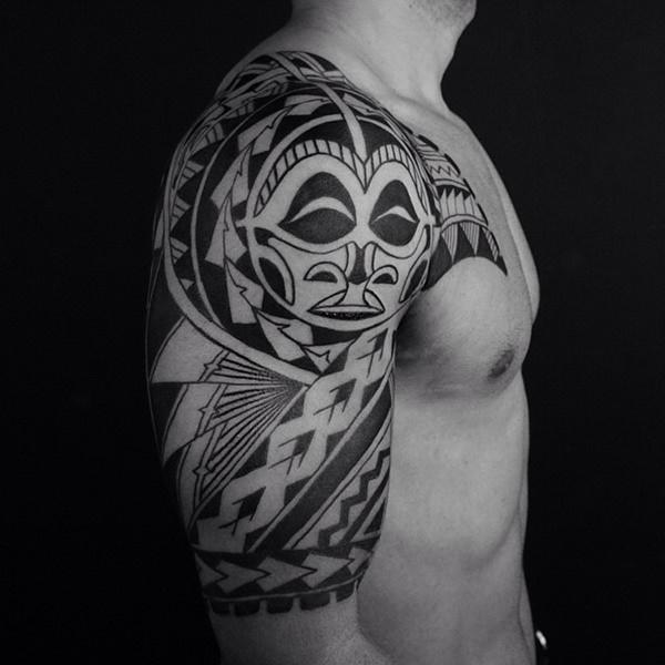 forearm polynesian tattoo