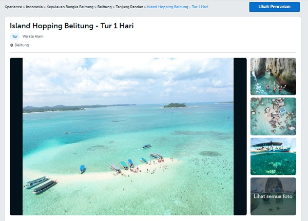 Island Hopping Belitung - Tur 1 Hari Traveloka Xperience Bangka Belitung