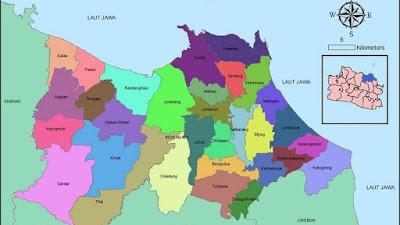 Daftar Kode Wilayah Kecamatan Beserta Jumlah Desa di Kabupaten Indramayu