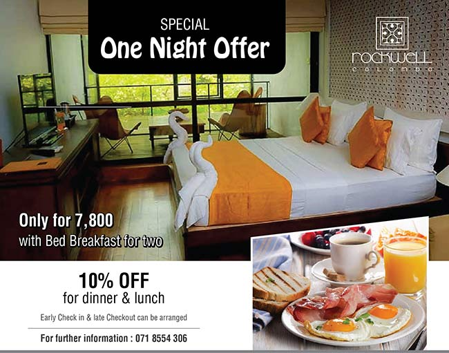 Special One Night Offer at Rockwell Colombo