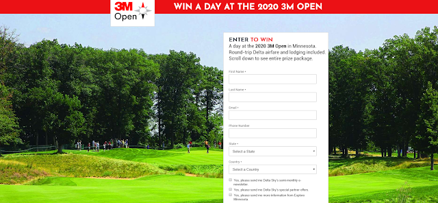 Delta Sky Magazine is giving away a fully expenses paid trip to the 3M Open in 2020 and the lucky winners will get extras and get to watch from Arnie's Cabin!