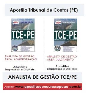 Apostila Tribunal de Contas PE Analista de Gestão Concurso TCE/PE 2017