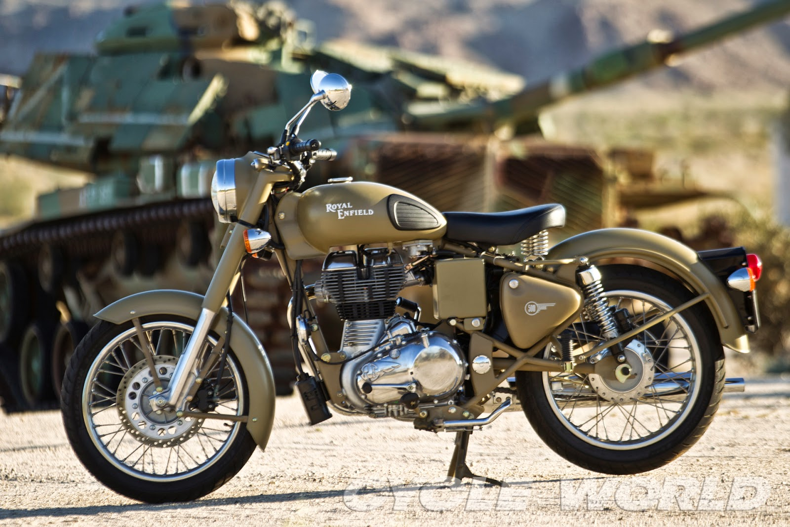 Used Honda Motorcycles >> RoyalEnfields.com: Royal Enfield Desert Storm photos with Army tanks