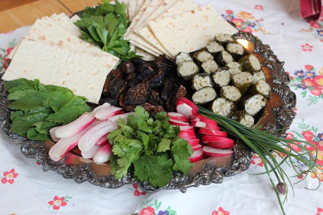 Vegan NoRouz Herb Platter