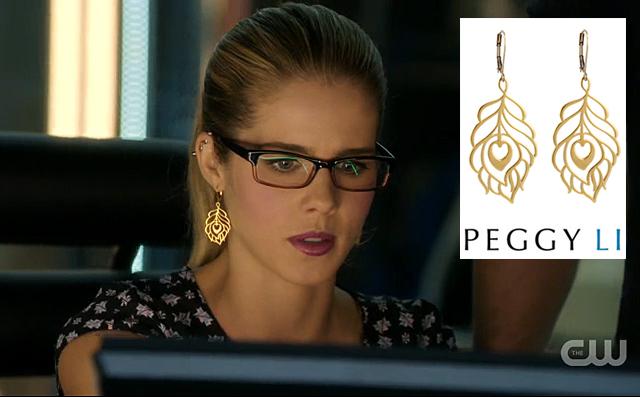 Felicity Feather Earrings Arrow