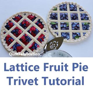 pie trivet-kitchen sewing-potholder-fruit pie-trivet tutorial-free pattern