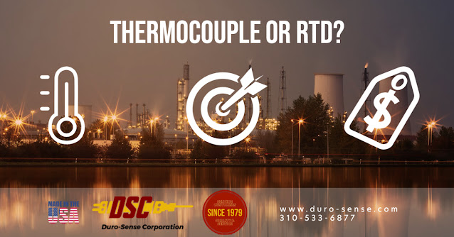 Thermocouples or RTD