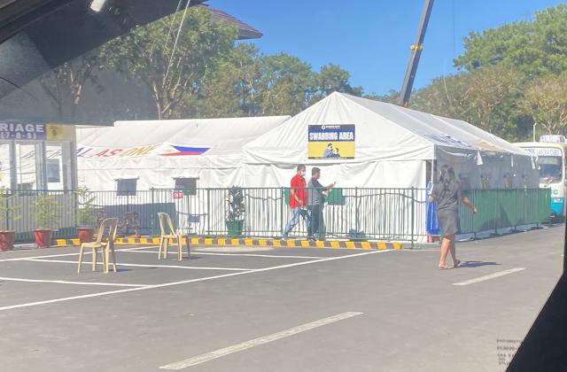 Covid Swabbing Swab Test Area at Baguio Triage 2021