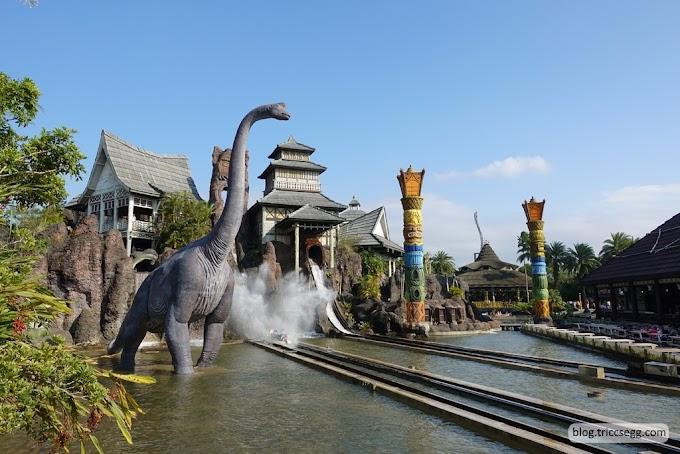 新竹關西鎮 六福村主題樂園之南太平洋-神秘又帶點冒險氣氛的遊樂區。