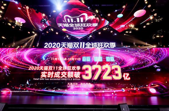Alibaba établit un record historique de gains le jour des célibataires