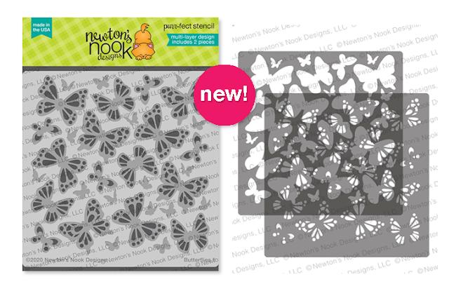Butterflies Stencil Set by Newton's Nook Designs