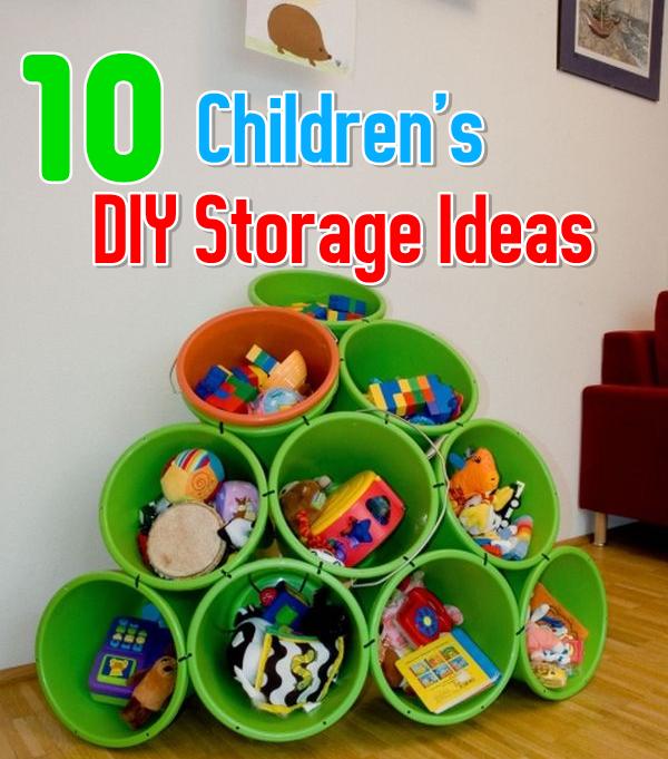 10 Easy Children's DIY Storage Ideas