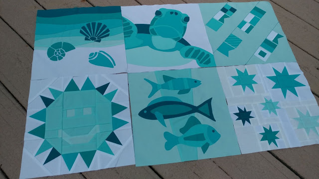 QAL By the Sea quilt blocks
