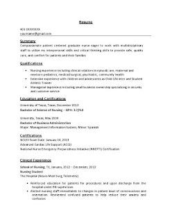 Sample Nursing Resume 1