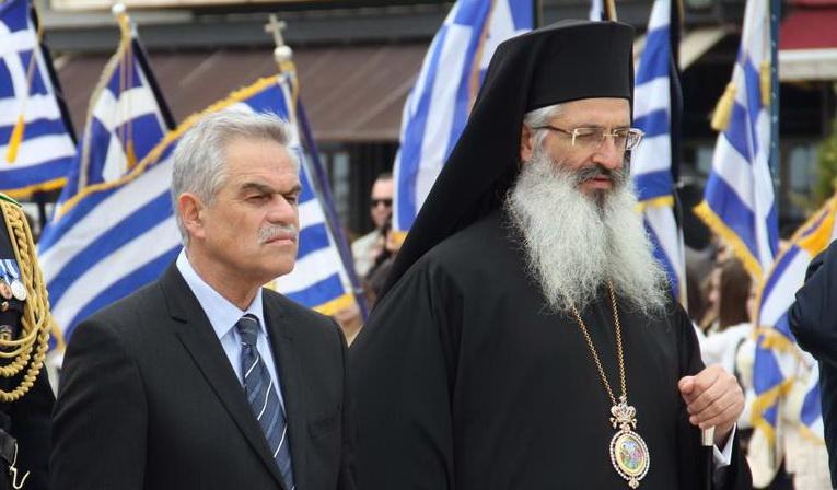 Ο χαιρετισμός του Άνθιμου προς τον Υπουργό Νίκο Τόσκα