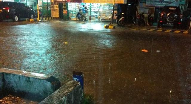 Hujan Deras, Jalan Diponegoro Palopo Terendam