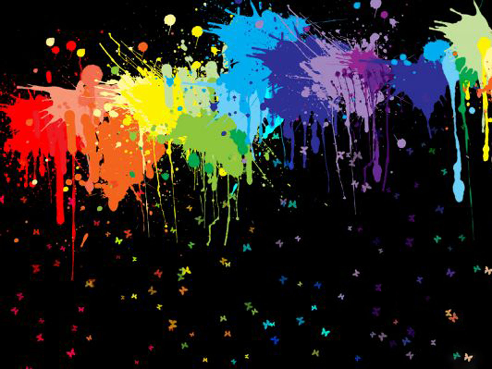 wallpapers: Color Blots Wallpapers