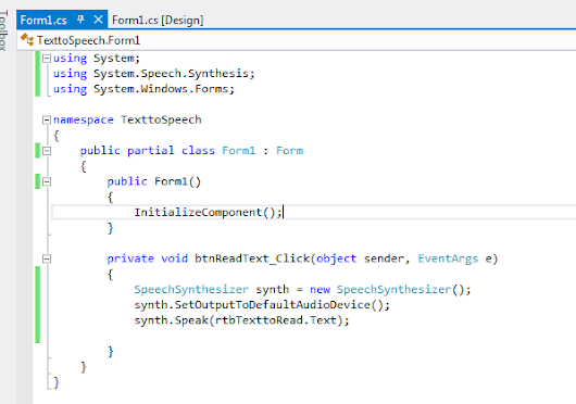 Text to Speech in C#