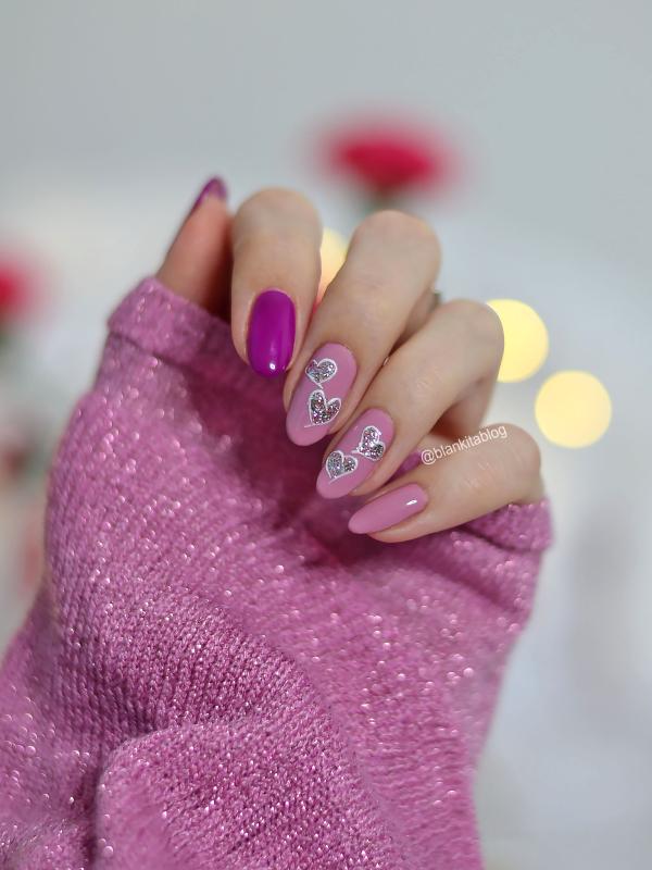 walentynkowe paznokcie, walentynki, paznokcie, rozowe paznokcie, serduszka na paznokciach