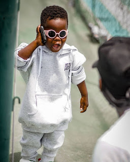 cool kid on the telephone