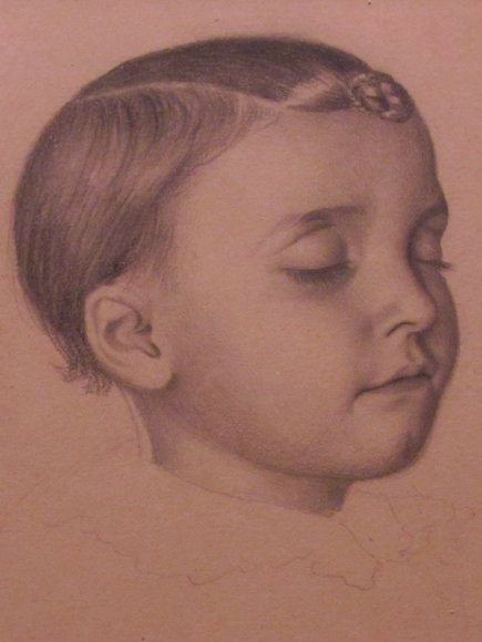Posthumous portrait of a child