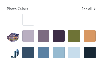 Canva photo color pallet