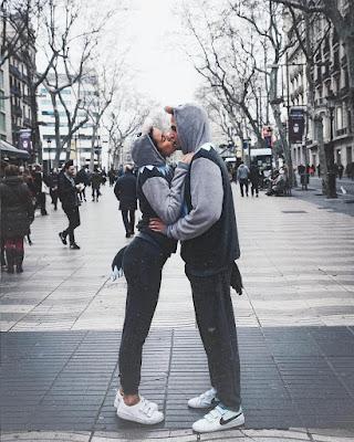 pareja tumblr besandose