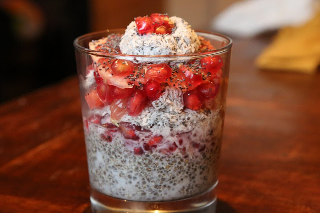 Coconut yogurt with chia strawberry jam recipe