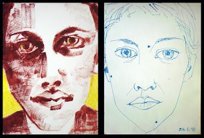 self-portraits made while living in Kuala Lumpur, Malaysia