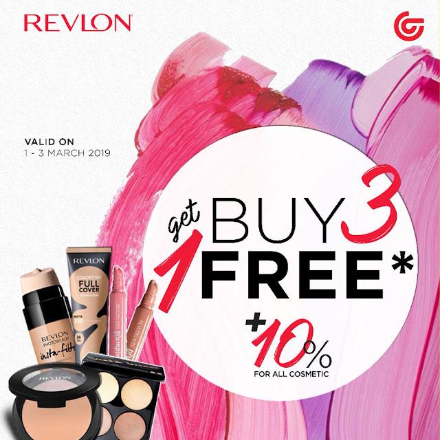 #Matahari - #Promo Produk Kecantikan Revlon Beli 3 Gratis 1 + Diskon 10% (s.d 03 Mar 2019)