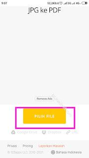 Pilih file yang akan di ubah ke pdf