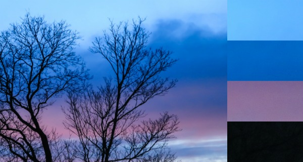 auringonlasku keväällä värikäs taivas