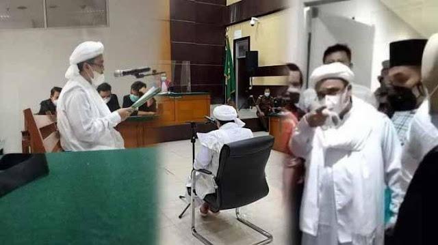 Protes Eksepsinya Tak Disiarkan, Habib Rizieq Ancam Lapor DPR dan Gugat PN Jaktim