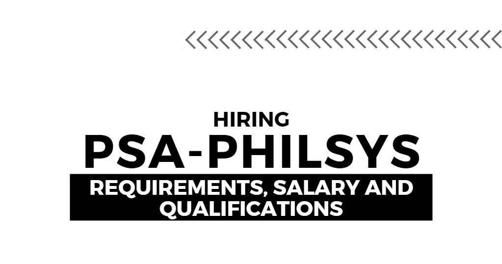 PSA Hiring: PhilSys Registry Office Job Vacancies 2020
