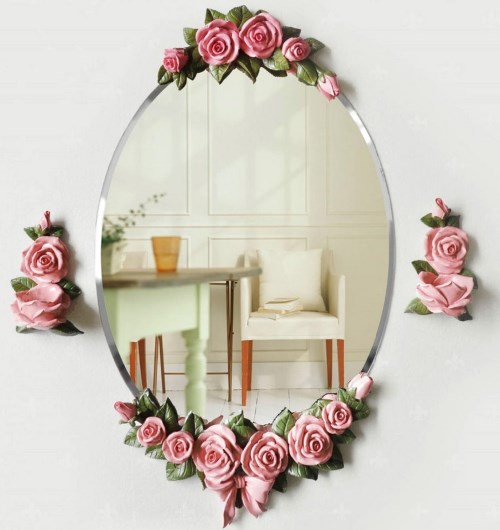 cermin kamar mandi Bentuk Elips