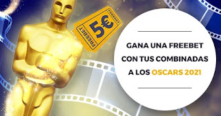 Paston apuesta a los Oscars y llevate 5 euros freebet hasta el 26-4-21