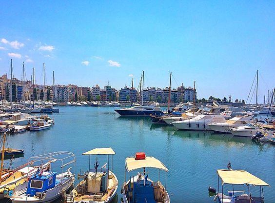 The port of Piraeus Greece
