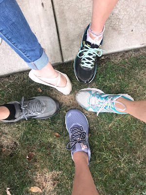 Steele family running and dancing shoes photo