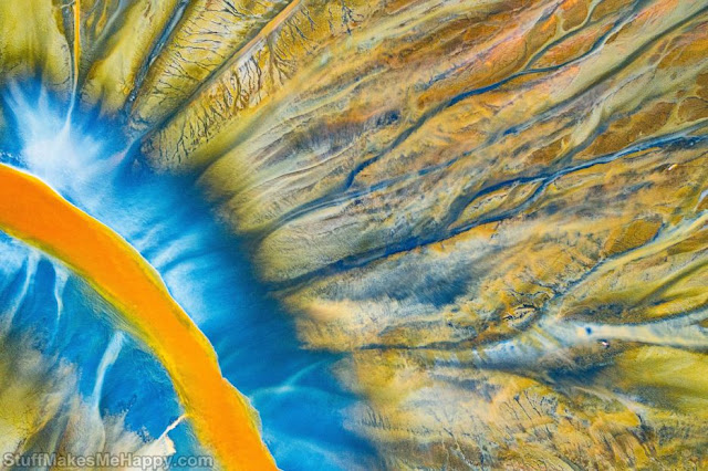2. Poisoned river. A natural disaster in the Apuseni Mountains in Transylvania that resulted from a chemical spill. (Photo by Gheorghe Popa