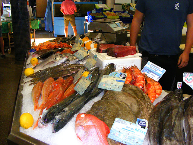 Fish market, Saint Jean de Luz. Pyrenees-Atlantiques. France. Photographed by Susan Walter. Tour the Loire Valley with a classic car and a private guide.