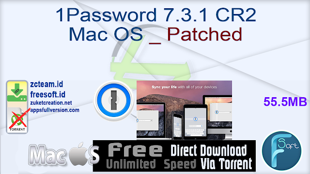 1Password 7.3.1 CR2 Mac OS _ Patched_ ZcTeam.id
