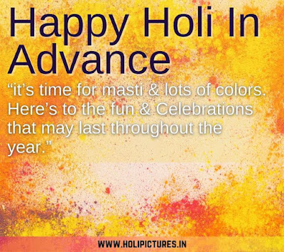 happy Holi in advance images with wishes