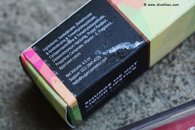 Sugar Cosmetics Smudge Me Not Liquid Lipstick 05 Rust Lust Ingredients