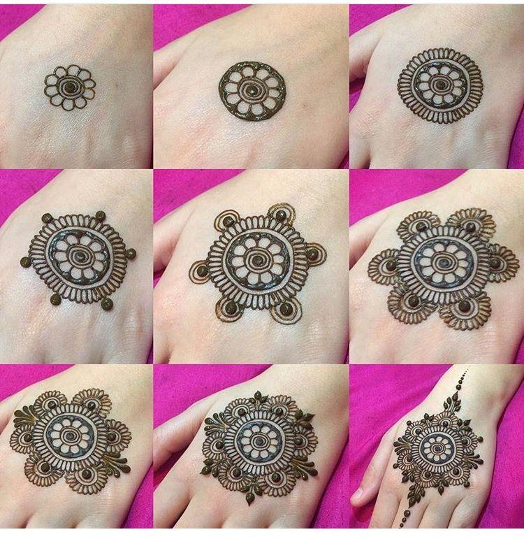 easy mehndi flower design
